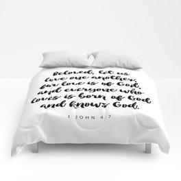 1 John 4:7 - Bible Verse Comforters