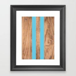 Wood Grain Stripes Light Blue #807 Framed Art Print