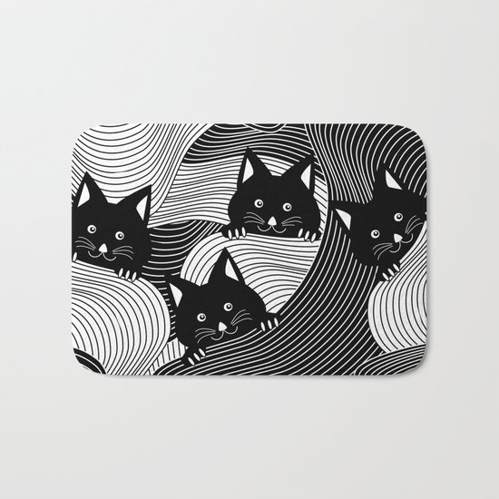 Hidden Kitties Bath Mat