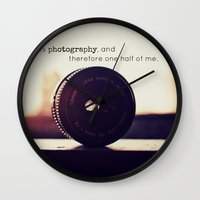 tool Wall Clocks featuring Photographer's Tool  by Jo Bekah Photography