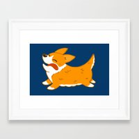 corgi Framed Art Prints featuring Corgi!! by mecantdraw