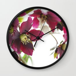 Flower impression Wall Clock