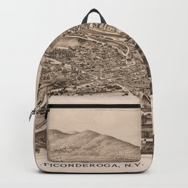 Ticonderoga Map 1891  (sepia) Backpack