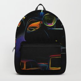 Neon car vintage car Backpack