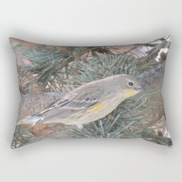 Audubon's Warbler on a Spruce Branch Rectangular Pillow