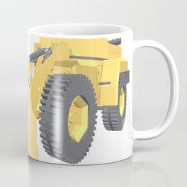 Bulldozer 3D projection vector. Coffee Mug