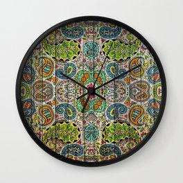 Kashmir on Wood 03 Wall Clock