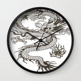 Chinese dragon Illustration Wall Clock