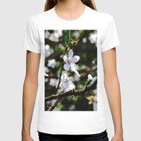 cherry blossoms T-shirts featuring Cherry blossoms by Monica Georg-Buller