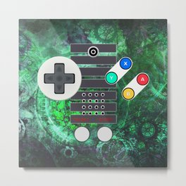 Game Controller Super Steampunk Metal Print