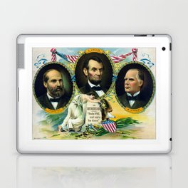 Garfield, Lincoln, and McKinley -- In Memoriam Laptop & iPad Skin