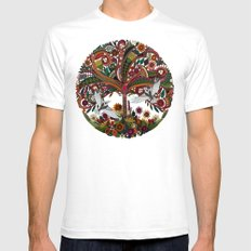 tree of life white Mens Fitted Tee SMALL White