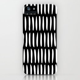 Classy Handpainted Stripes Pattern Black, Scandinavian Design iPhone Case