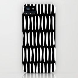Classy Handpainted Stripes Pattern Black, Scandinavian Design iPhone Case