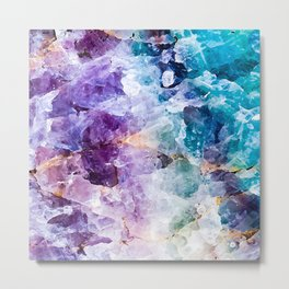 Multicolor quartz texture Metal Print