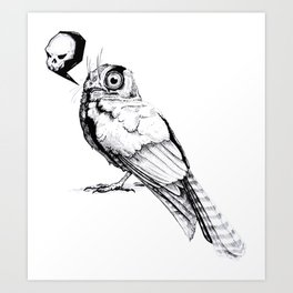 Owlet Nightjar Art Print