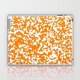 Small Spots - White and Orange Laptop & iPad Skin