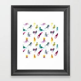 Ecoline party Framed Art Print