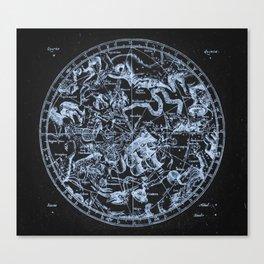 Ice on Black   Zodiac Skies & Astrological Ties Canvas Print
