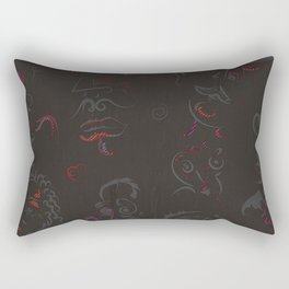 Various Human Figures Rectangular Pillow
