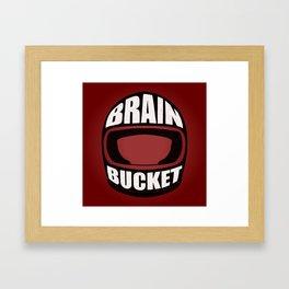 Brain bucket Framed Art Print
