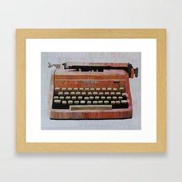 Pink Typewriter Framed Art Print