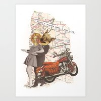 Bad Girl - Collage Collections Art Print