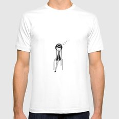 Sleepy SMALL White Mens Fitted Tee