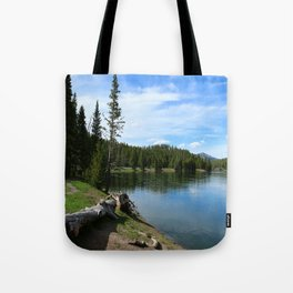 Serene Yellowstone River Tote Bag