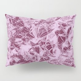 Pink and berry wine butterfly photograph duo tone Pillow Sham