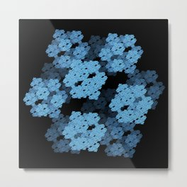 3D Fractal Cubes Metal Print