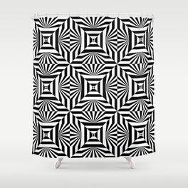 Op art trippy pattern Shower Curtain