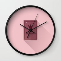 the grand budapest hotel Wall Clocks featuring The Grand Budapest Hotel · Republic of Zubrowka by Lorena G