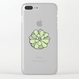 Green suculent Clear iPhone Case