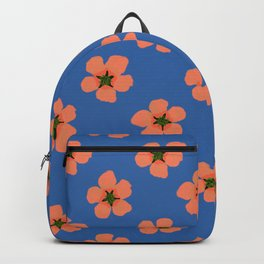 Cololrful hand drawn retro home decor and textile design almond flowers pattern Backpack