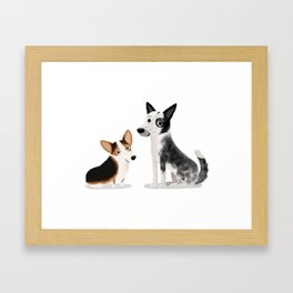 "Custom Cute Dog Art ""A + L"" Framed Art Print"