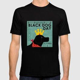 Black Dog Day Royal Crown T-shirt
