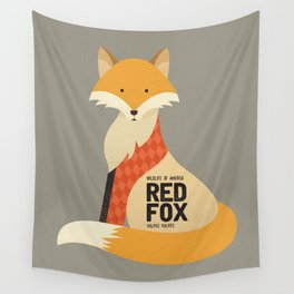 Hello Red Fox Wall Tapestry