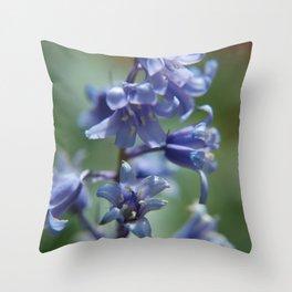 Fluid Nature - Beautiful Bluebells Throw Pillow