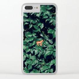 Orange horse in the bush Clear iPhone Case