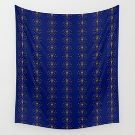 flag of indiana 2-midwest,america,usa,carmel, Hoosier,Indianapolis,Fort Wayne,Evansville,South Bend Wall Tapestry