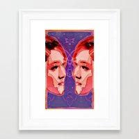 gemini Framed Art Prints featuring Gemini by Steve W Schwartz Art