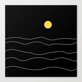 Black Ocean Canvas Print