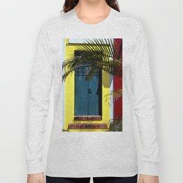 puerto rican blue door Long Sleeve T-shirt