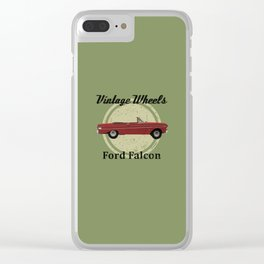 Vintage Wheels - Ford Falcon Clear iPhone Case