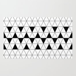 Black and white geometric design. Rug