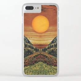Sunset vibes Clear iPhone Case