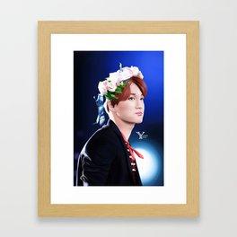 Flowerly Kai Framed Art Print
