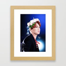 Flowerly Kai Framed Art Print