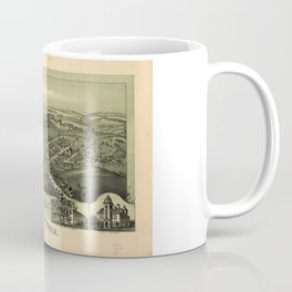 Aerial View of Woodsfield, Monroe County, Ohio (1899) Coffee Mug